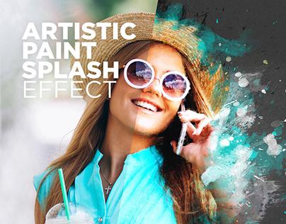 Free Photoshop Actions Artistic Paint Splash #4