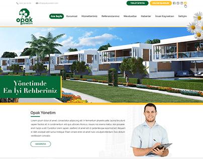 Opak Yönetim - UI Design Concept
