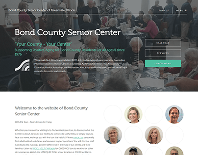 Bond County Senior Center Website, 2020