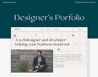 A Portfolio Website Design for a Web Designer