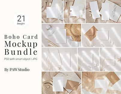 Boho Card Mockup Bundle