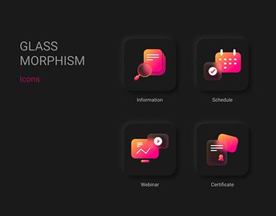 Glassmorphism Icon