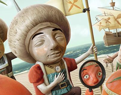 FRiDRiH™ Mushrooms Christopher Columbus