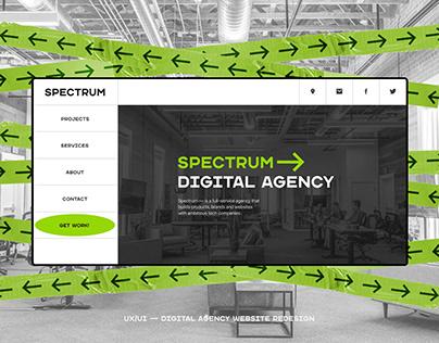 SPECTRUM — DIGITAL AGENCY WEBSITE REDESIGN (UX/UI)