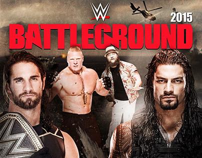 WWE Battleground 2015 Custom BluRay Cover