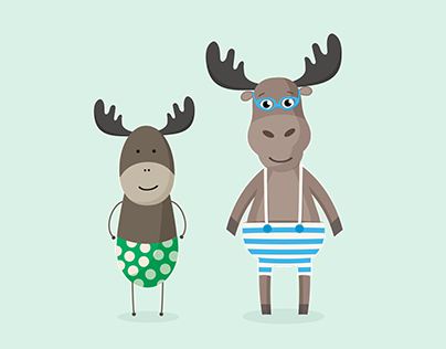 A Moose and a Deer