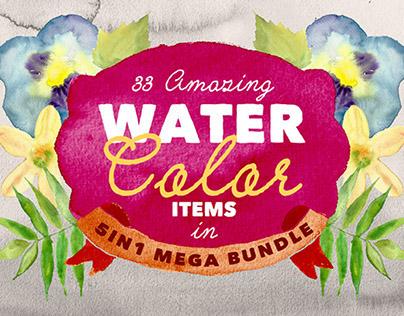 Mega Bundle: Watercolor Art