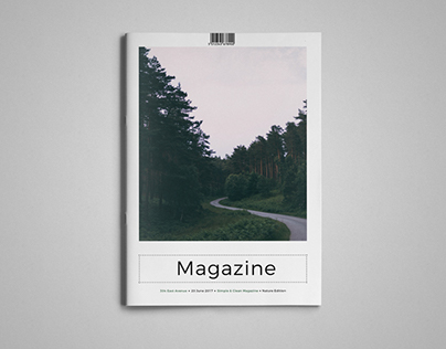 Simple & Clean Magazine Template VI