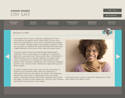 Strong Women Stay Safe Web Application