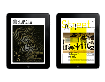 aCapella Ipad Magazine