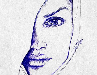 Faces sketches