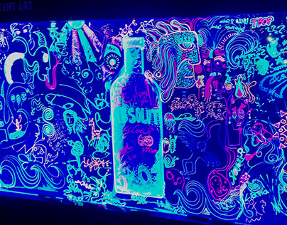 Absolut Fluorescent Art Wall