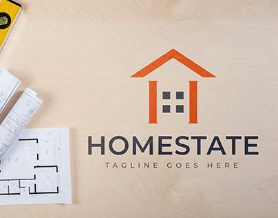 Real Estate Logo Design. (Homestate)