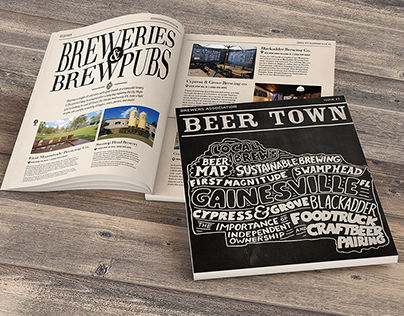 Beer Town Newsletter (printed and digital publishing)