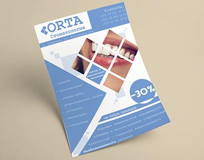 Flyer for dental clinic