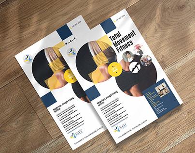 Flyer Design for Fitness