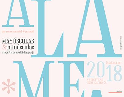 Alameda, diseño tipográfico