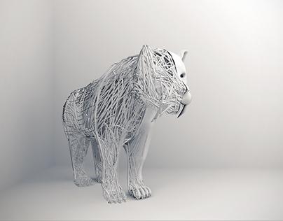 Saber-Toothed Tiger-3D Visual Design