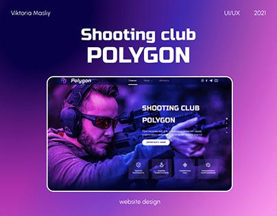 Landing page for shooting club Polygon