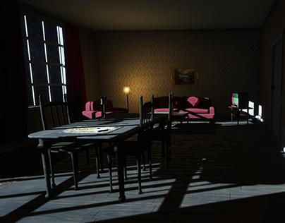 In the dark VR game