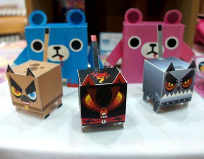 Paper Toy - MAD CAT