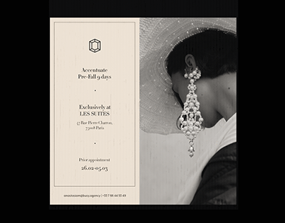 An Invitation for Accentuate Jewelry Brand.