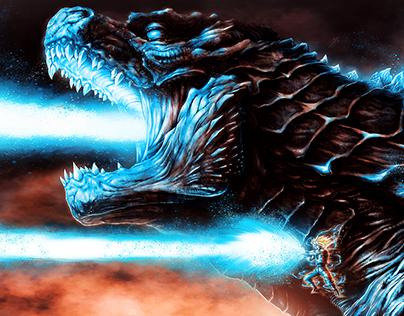 Godzilla x Goku: Atomic Kamehameha on Behance