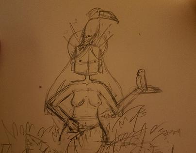 Bird lady, project 6, 3D 1