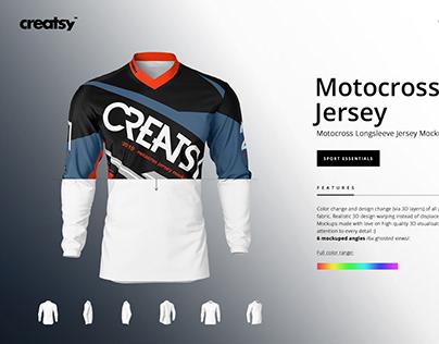Motocross Jersey Mockup Set