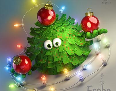 Christmas tree | postcard