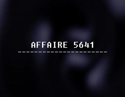 AFFAIRE 5641 // FICTION SONORE