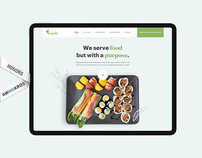 Vegoshi Restaurant - Landing Page