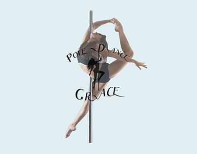 Логотип для студии танцев и фитнеса на пилоне