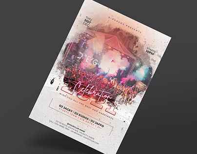 New Year Party Celebration 2021 Flyer Template