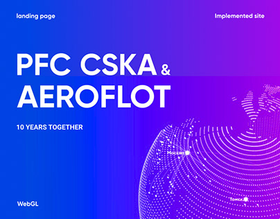 Landing page for Russian Football team and Airline