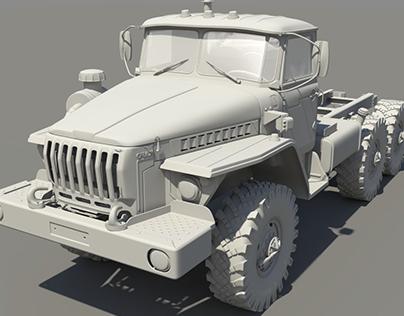 URAL 4320 - High Poly Modeling