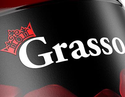 Label for pomegranate juice «Grasso»