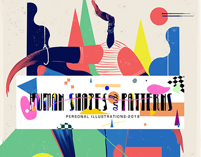 HUMAN SHAPES AND PATTERNS- ILLUSTRATIONS