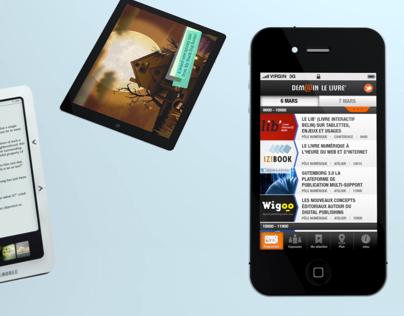 Demain le Livre - iPhone app Teaser
