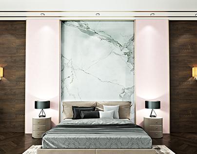 Luxury Girl's bedroom interior design in Kuwait