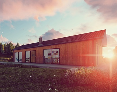 Mountain summer house