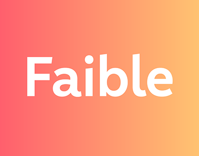 Faible – a friendly sans serif by Moritz Kleinsorge