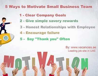 5 ways to Motivate Small Business Team