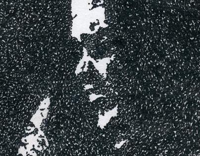 Pointillism: Jimi Hendrix Isle of Wight Festival