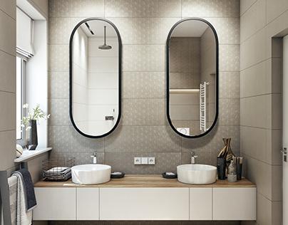 Interior design of bathroom (second option)