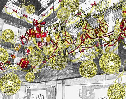 TSUM`s Atrium Christmas decoration.