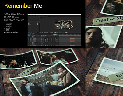 Remember Me. After Effects Rroject.