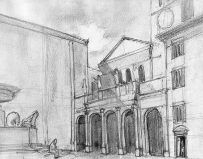 Sketching Pratt Rome