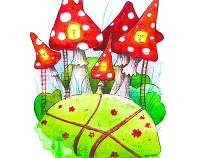 Mushroom house for the inhabitants of lilliput