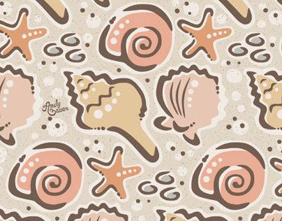 Seashells Surface Design & Pattern